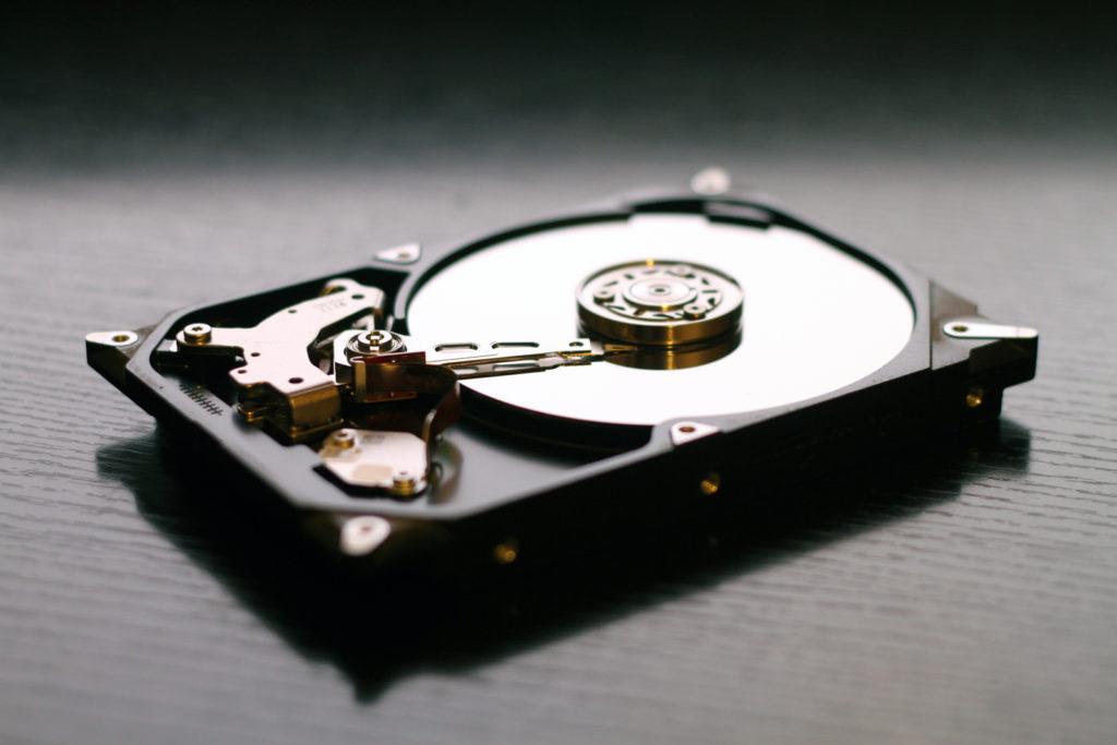 Desktop hard drive on desk