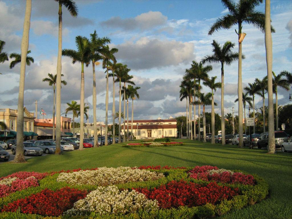 Palm Beach scene