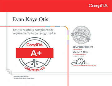 PC Revive CompTIA A+ Certification