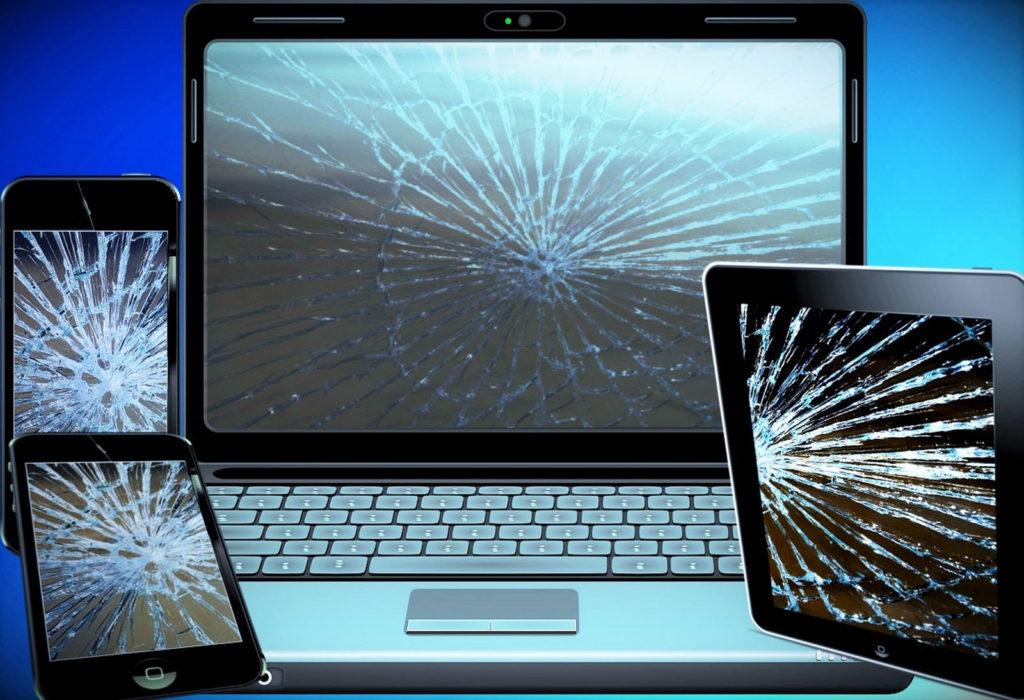 Phone, Computer, Tablet broken screen