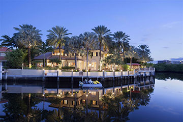 House in Boca Raton on the intracoastal